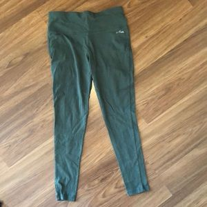 Spalding Olive Green Fabric Leggings